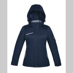 North End Ladies' Rivet Textured Twill Insulated Jacket (78209)