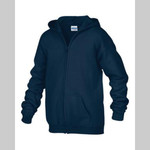 MacKillop: Gildan Heavy Blend Full Zip Hooded Youth Sweatshirt
